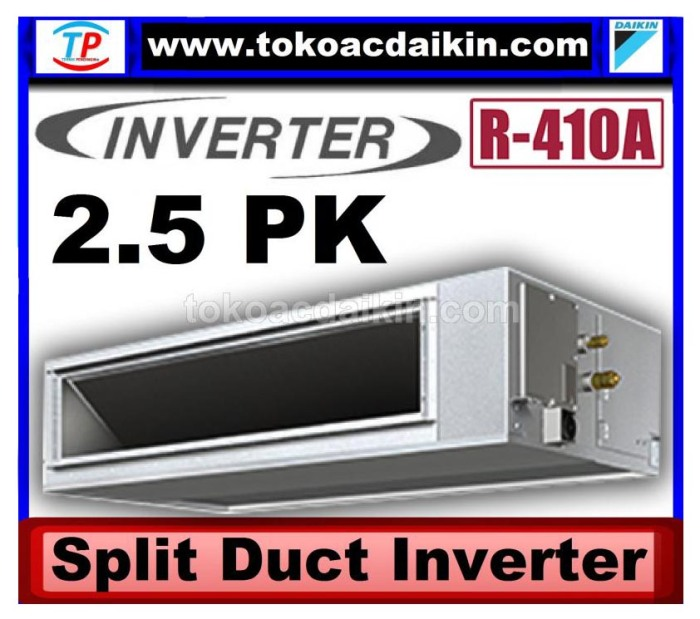 2.5 pk split duct inverter