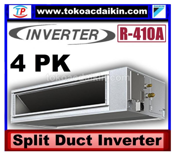 4 pk split duct inverter