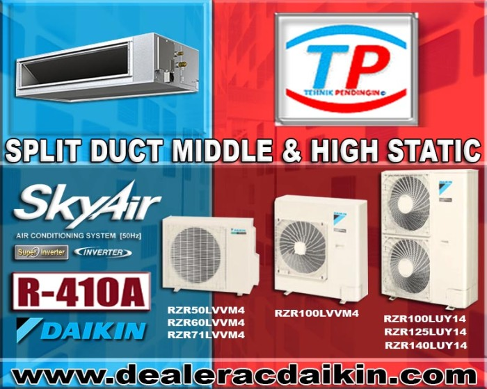 SPLIT DUCT HIGH & MIDDLE STATIC