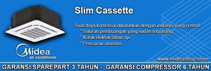 AC CASSETTE MIDEA SLIM